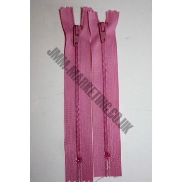 "Nylon Zips 20"" (51cm) - Dusky Pink"