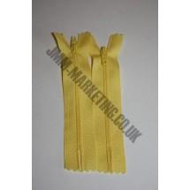 """Nylon Zips 22"""" (56cm) - Yellow"""