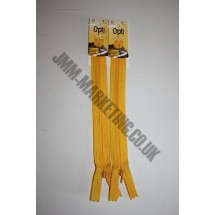 "Optilon Concealed Zips 12"" (30cm)  - Gold"