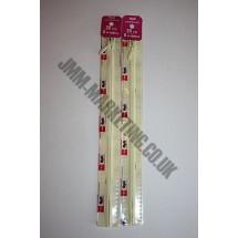 """Optilon Concealed Zips 16"""" (41cm) - Cream"""