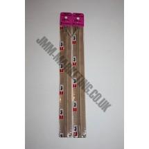 """Optilon Concealed Zips 16"""" (41cm) - Beige"""