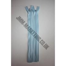 "Optilon Concealed Zips 16"" (41cm) - Baby Blue"