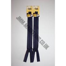 "Optilon Concealed Zips 20"" (51cm) - Navy"