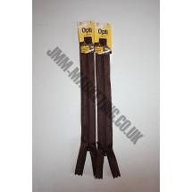 "Optilon Concealed Zips 20"" (51cm) - Brown"