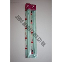 "Optilon Concealed Zips 22"" (56cm) - Pale Green"