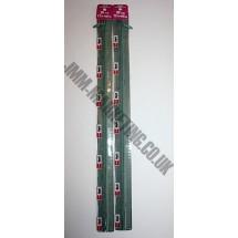 "Optilon Concealed Zips 22"" (56cm) - Green"