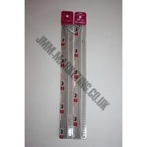"Optilon Concealed Zips 22"" (56cm) - Light Grey"