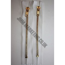 "Jean Zips 7"" (18cm) - White"