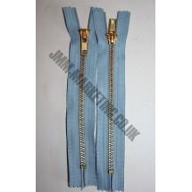 """Jean Zips 7"""" (18cm) - Sky Blue"""