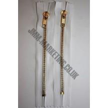 "Jean Zips 8"" (20cm) - White"
