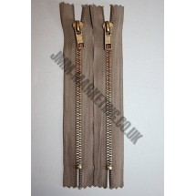 """Jean Zips 8"""" (20cm) - Beige"""