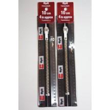 """Metal Zips 6"""" (15cm) - Black"""
