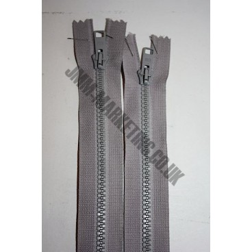 "Open Ended Zips 16"" (41cm) - Mid Grey"