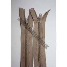 """Open Ended Zips 20"""" (51cm) - Beige"""