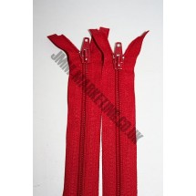 """Open Ended Zips 20"""" (51cm) - Red"""