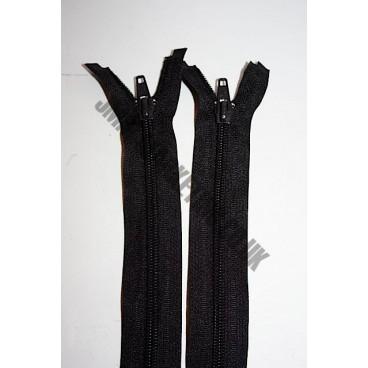 """Open Ended Zips 22"""" (56cm) - Black"""