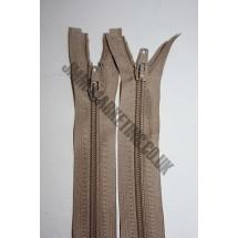 """Open Ended Zips 22"""" (56cm) - Beige"""
