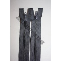 """Open Ended Zips 22"""" (56cm) - Dark Grey"""