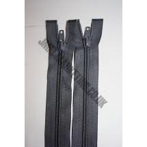 """Open Ended Zips 24"""" (61cm) - Dark Grey"""
