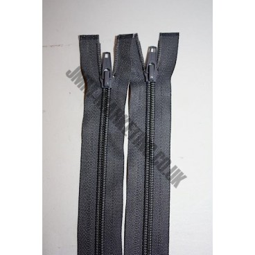 "Open Ended Zips 24"" (61cm) - Dark Grey"