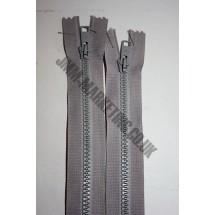 "Open Ended Zips 28"" (71cm) - Mid Grey"