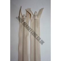 """Open Ended Zips 30"""" (76cm) - Cream"""