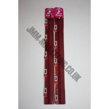 "Optilon Concealed Zips 16"" (41cm) - Burgundy"