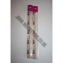 """Optilon Concealed Zips 16"""" (41cm) - Ivory"""