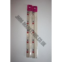 """Optilon Concealed Zips 8"""" (20cm) - Ivory"""