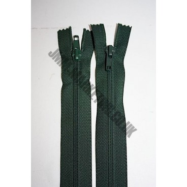"Open Ended Zips 12"" (30cm) - Bottle Green"