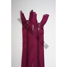 """Open Ended Zips 24"""" (61cm) - Burgundy"""