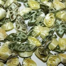 Ribbon Roses - Large - Lemon