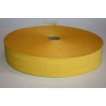 """Polyester Webbing 1"""" (25MM) - Yellow - Roll Price"""