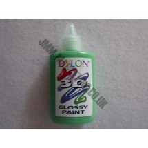 Dylon 3D Glossy Fabric Paint - Bright Green 30ml