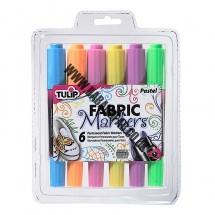 Tulip Dual Tip Fabric Pens - Pastel