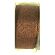 "Seam Binding Tape - 12mm (1/2"") - Brown (122) 25m Roll Price"