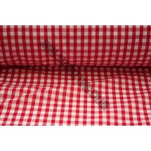 """Polyester Gingham 45"""" (1.14m) wide - Red (1/4"""" Squares)"""