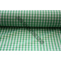 """Polyester Gingham 45"""" (1.14m) wide - Green (1/4"""" Squares)"""