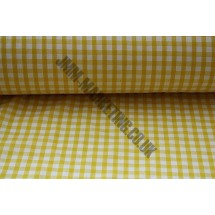 """Polyester Gingham 45"""" (1.14m) wide - Yellow (1/4"""" Squares)"""