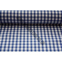 """Polyester Gingham 45"""" (1.14m) wide - Royal Blue (1/4"""" Squares)"""