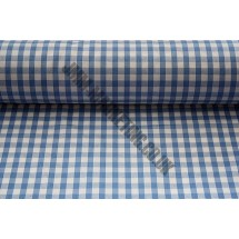 """Polyester Gingham 45"""" (1.14m) wide - Light Blue (1/4"""" Squares)"""