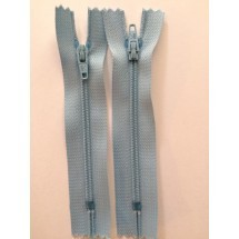 """Nylon Zips 12"""" - Light Blue"""
