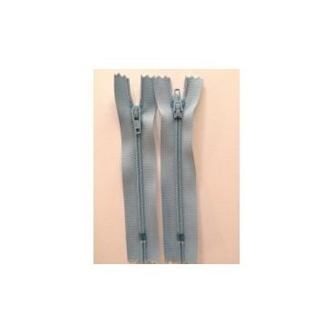 """Nylon Zips 16"""" - Light Blue"""