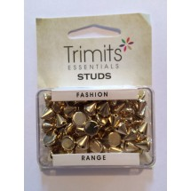 Sew on Studs - Gold 8mm