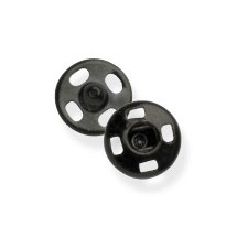 Snap Fasteners - Black - 8mm