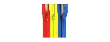 """Nylon Zips 4"""" (10cm)"""